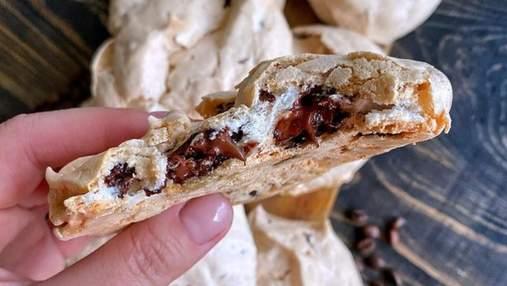 Хрустящее белковое печенье с шоколадной начинкой: вкусно, как в детстве