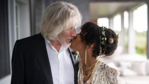 78-річна зірку гурту Pink Floyd вп'яте одружився: чарівні фото