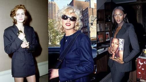 Жакет в полоску – главная покупка октября: стильные вещи, которые носили звезды в 1990-х