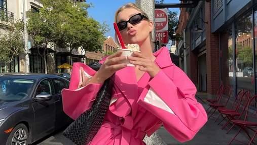 Найкрасивіша знахідка осені – рожевий тренч, як у Ельзи Госк: стильний образ