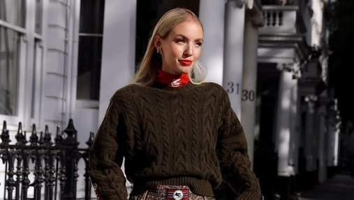 Леони Ханне надела самые модные сапоги осени: стильный выход немецкого инфлюенсера