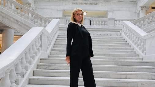 Періс Гілтон з'явилась у Білому домі в образі total black: фото ефектного виходу