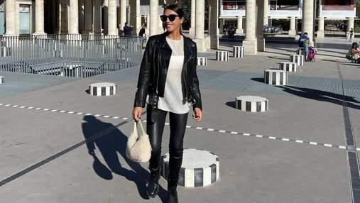 Санта Димопулос полетела в Париж: фото осеннего образа