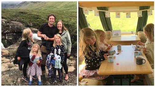 Захотели приключений: пара продала дом и путешествует с 3 детьми по стране