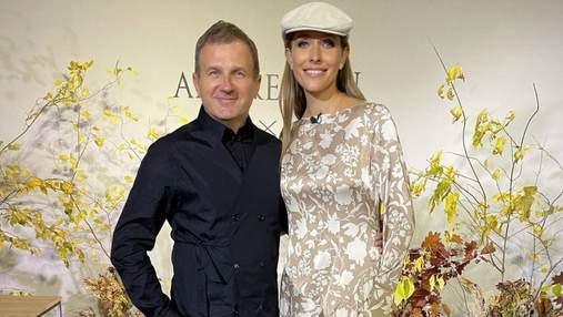 Катя Осадча приміряла вбрання від Андре Тана: фото з коханим