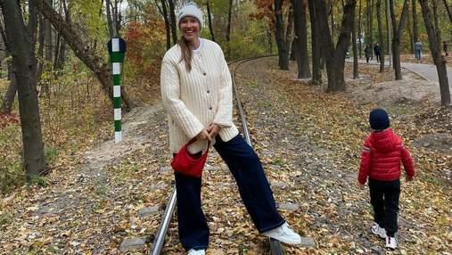 Катя Осадча активно провела вихідний зі старшим сином: яскраві фото та відео