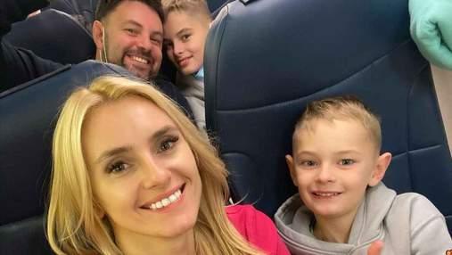 Ірина Федишин з сім'єю відправилася у відпустку: фото з літака