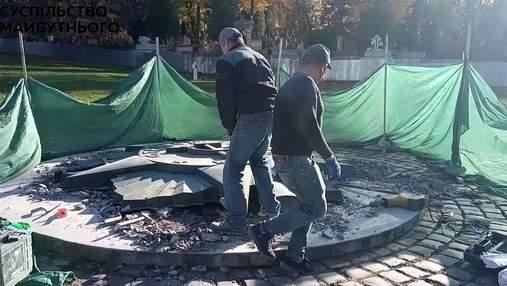 На Марсовому полі у Львові демонтували радянську зірку