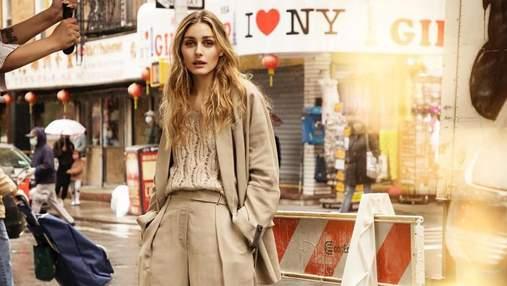 Олівія Палермо замилувала бездоганним кремовим образом для Elle Сroatia: стильне фото