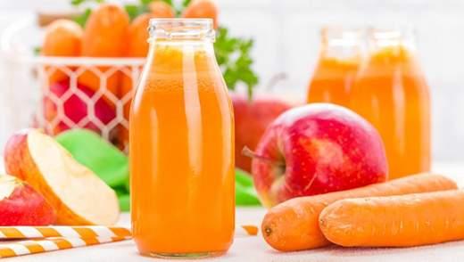 Напій спекотного дня: морквяно-яблучний смузі з бананом та імбирем